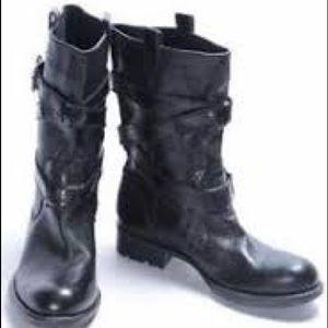 Franco Sarto motorcycle short black leather boots
